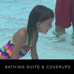 All swim suits have not been worn - coverups yes!